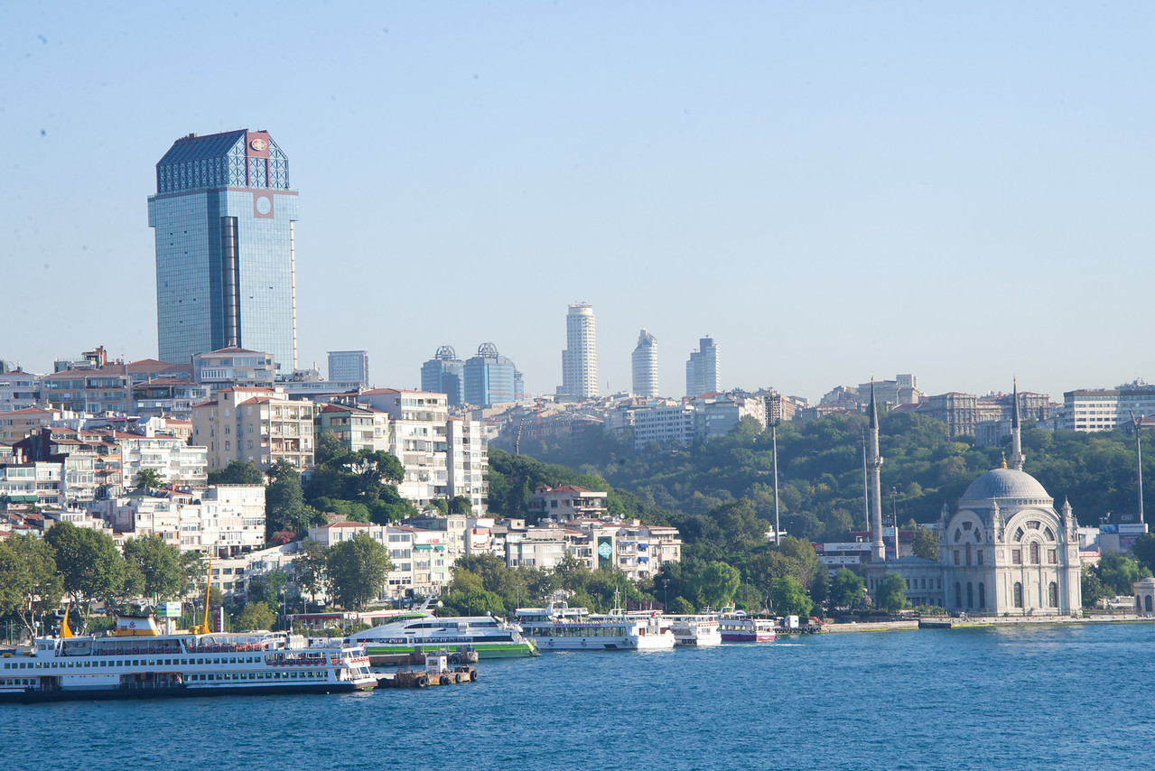 New Part of Istanbul During Sail In