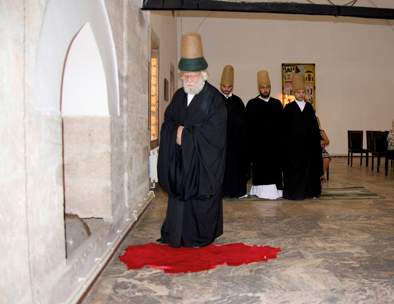 Whirling Dervishes… Long Felt Hat Represents The Grave, Black Coat Represents Earth Over The Grave, White Dress Represents The Burial Shroud… They Believe The Day of Death is The Day of Their Unification With God-Allah