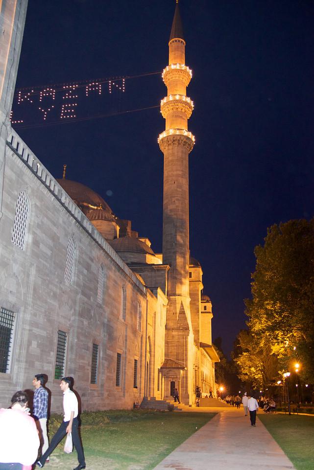 Suleiman Mosque  At Night