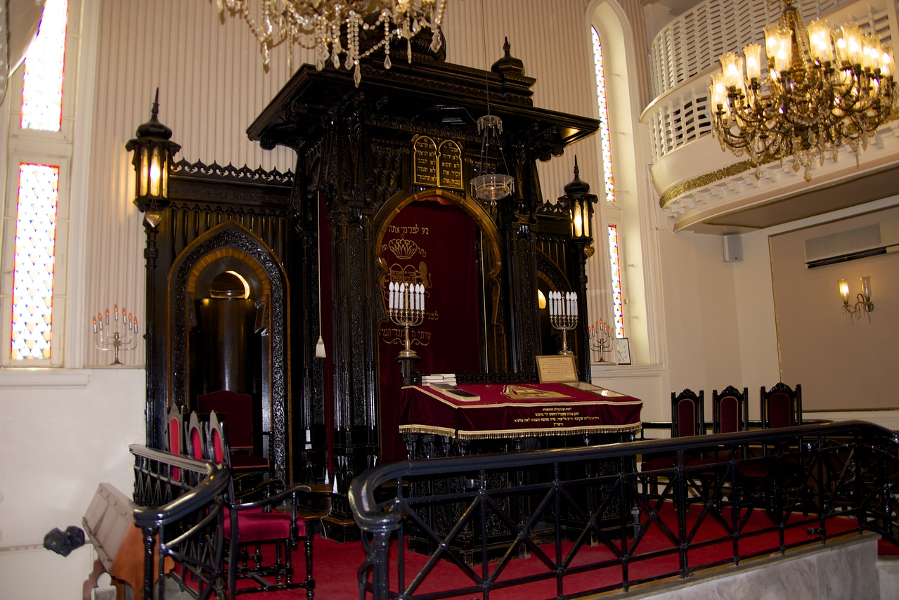 Pulpit of Askenaz Synagogue…Women's Balcony to The Right…located near the Galata Tower, it is the only currently active Ashkenazi synagogue in Istanbul open to visits and prayers