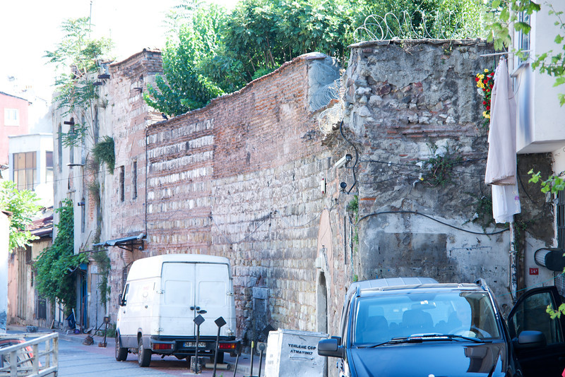 Wall is Yanbol Synagogue – the second of the ancient synagogues in Balat