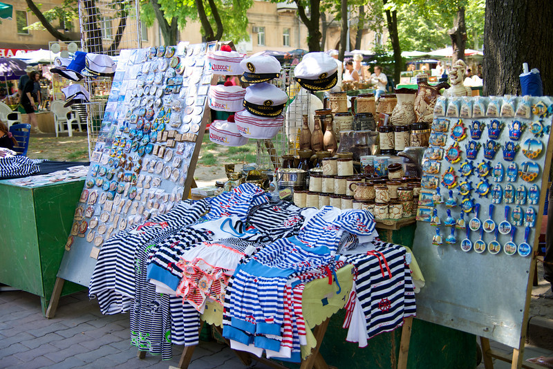 Odessa is A Major Port… There Are Vendors Selling Sea Related Memorabilia Everywhere