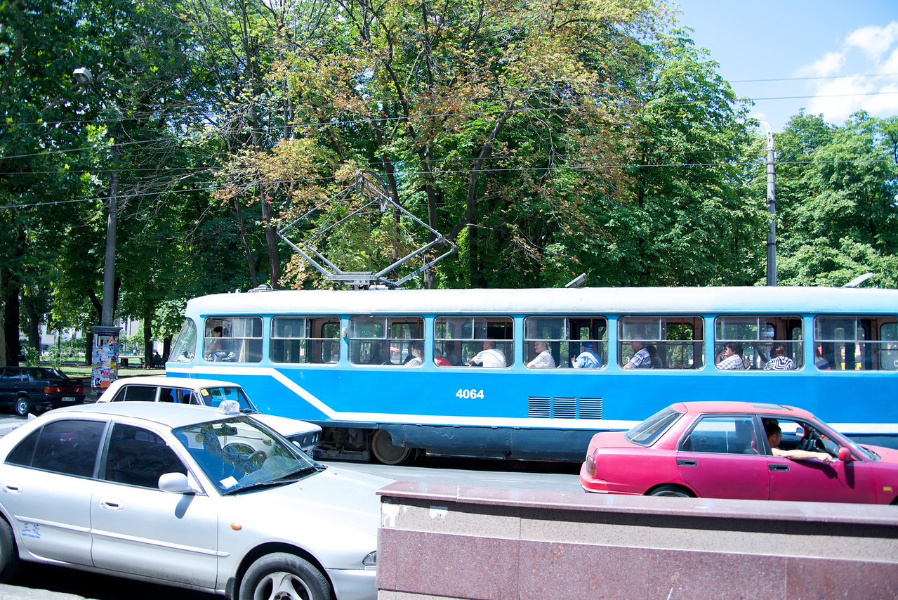 Odessa Streets Are Narrow Therefore Public Transportation Are Trams, Trolley and Mini-Bus