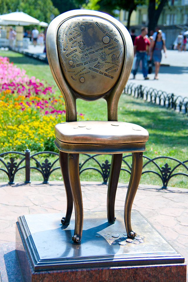 "Statue of ""the 12th Chair"" From The Famous Novel by Yehiyel Faizilberg & Yevgeniy Kataev named ""Twelve Chairs"""