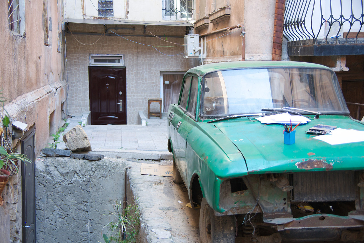 Old Car and New Door