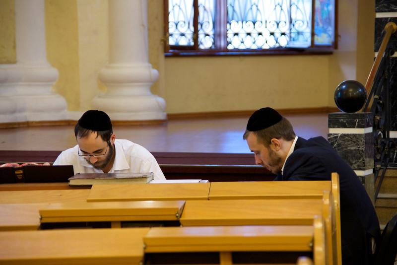 Two Men Studying Torah
