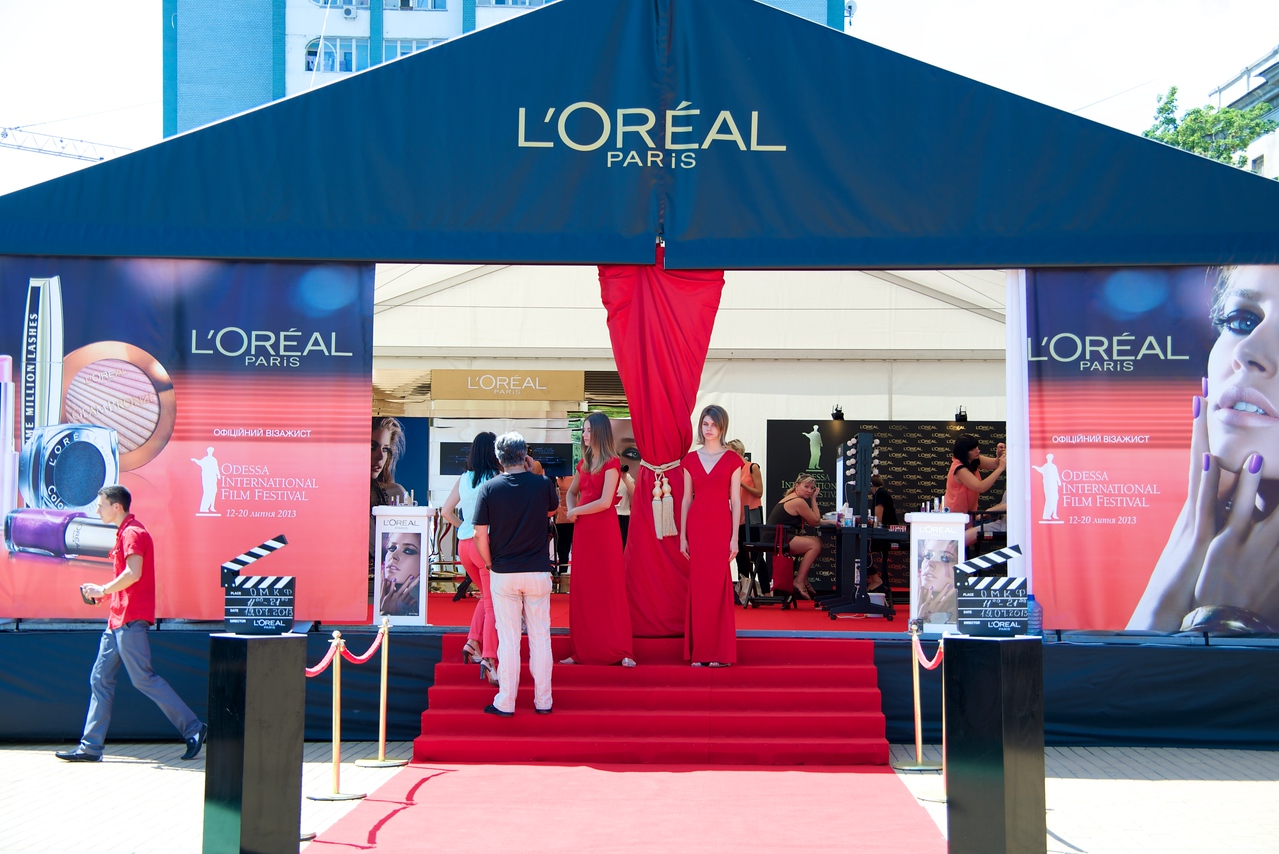L'Oreal Booth at Film Festival