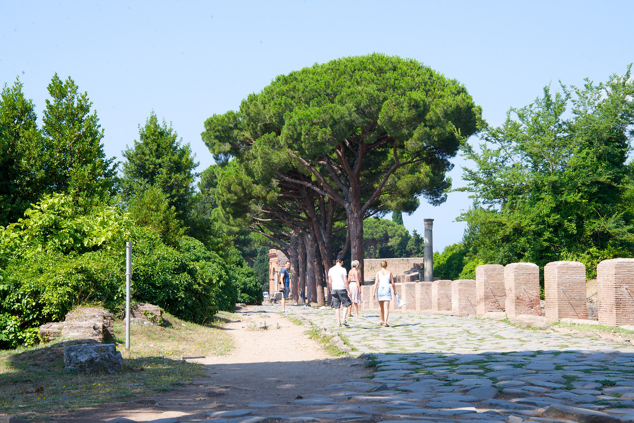 Stones Are Original Road from Rome to Ostia (Port City)