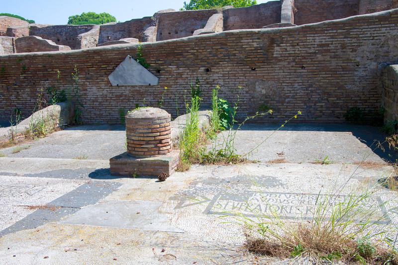 Forum of Corporations (Only in Ostia)… Each Office Had Its Name in Mosaic at the Front
