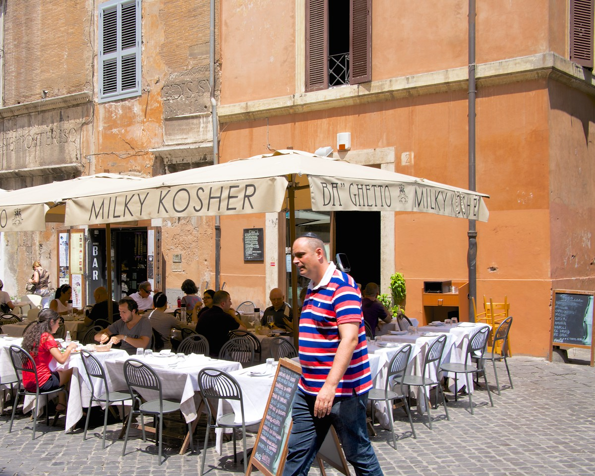 Example of The Many Kosher Restaurants in The Jewish Ghetto