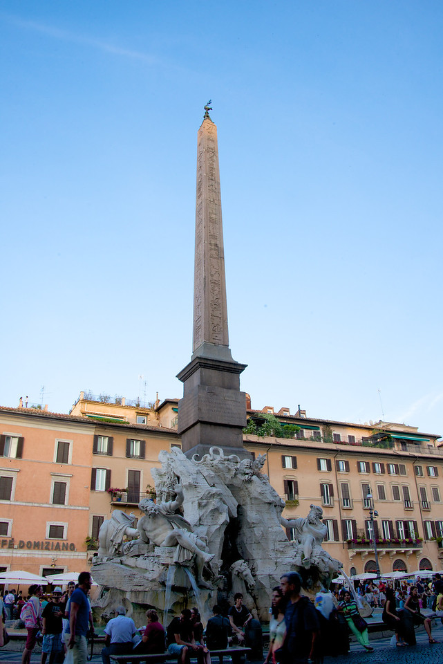 Fountain of Four Rivers in Piazza Navona