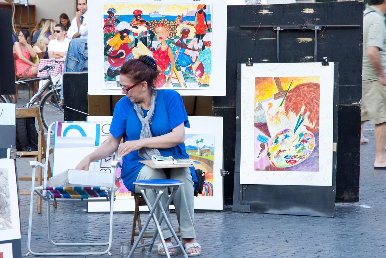 Artist in Piazza Navona