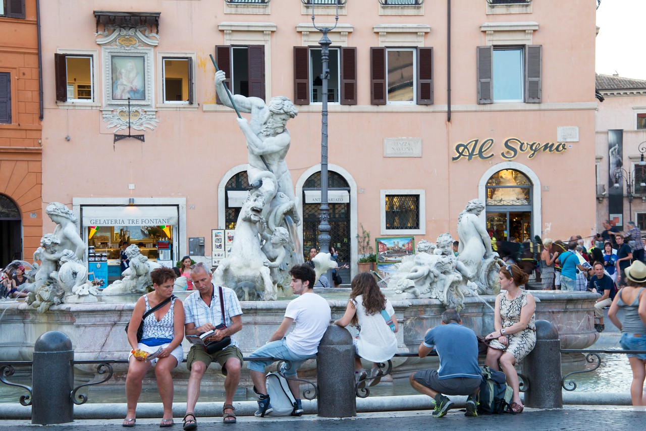 One of Three Fountains in Piazza Navona