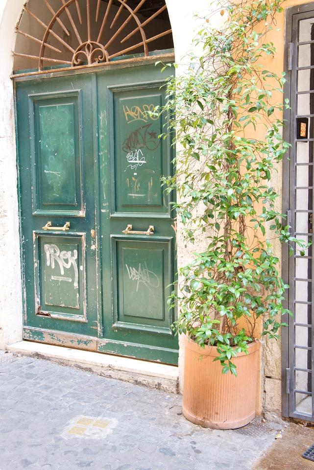 """Stones of Memory"" Outside Door of Former Resident's Home"