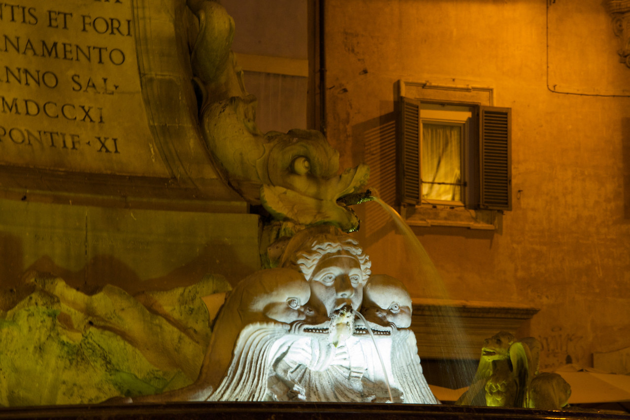 Fountain In Front of Pantheon