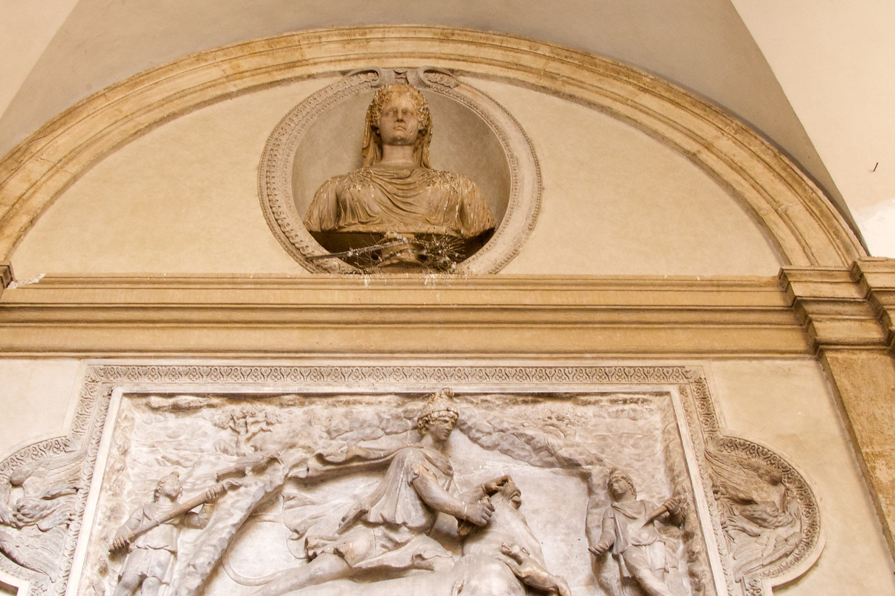 Example of Roman Art That Has Been Preserved and Used To Decorate Exterior of Buildings