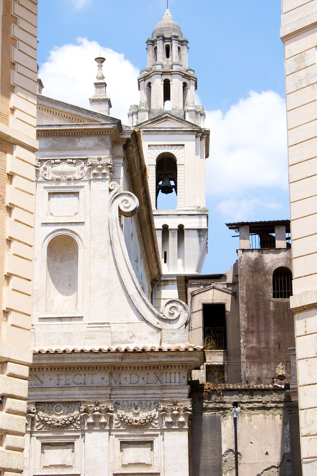 Churches All Around The Jewish Ghetto… Made Conversion Easier After 1555 When Ghetto Was Closed by Pope Paul IV