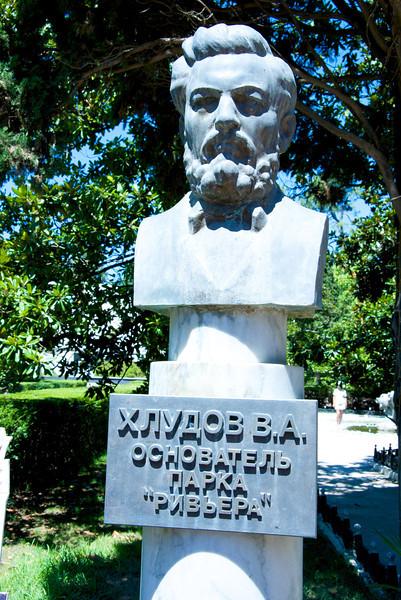 Statue of Original Owner of Riviera Park