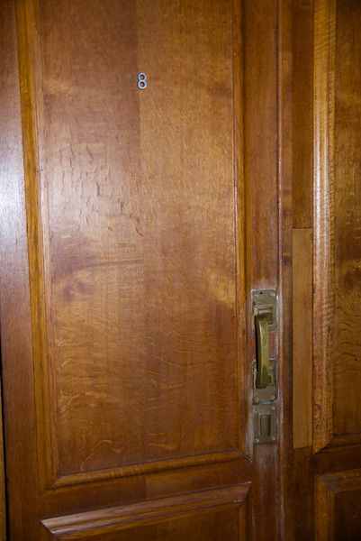 One of The Room Doors at The Stalin Villa Hotel… The Locks on All The Doors Were Commissioned By Stalin… You Can't See Through The Keyhole