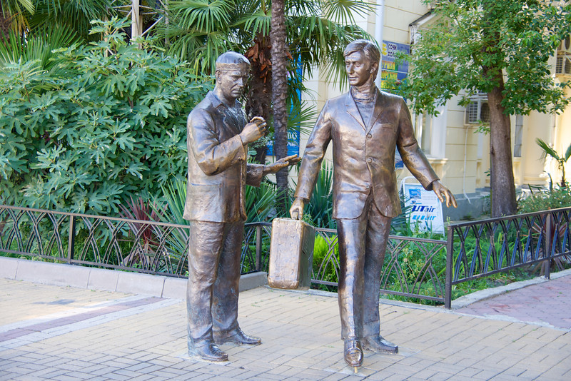 Statues In Port Area Are A Tribute to Sochi's Famous Actors