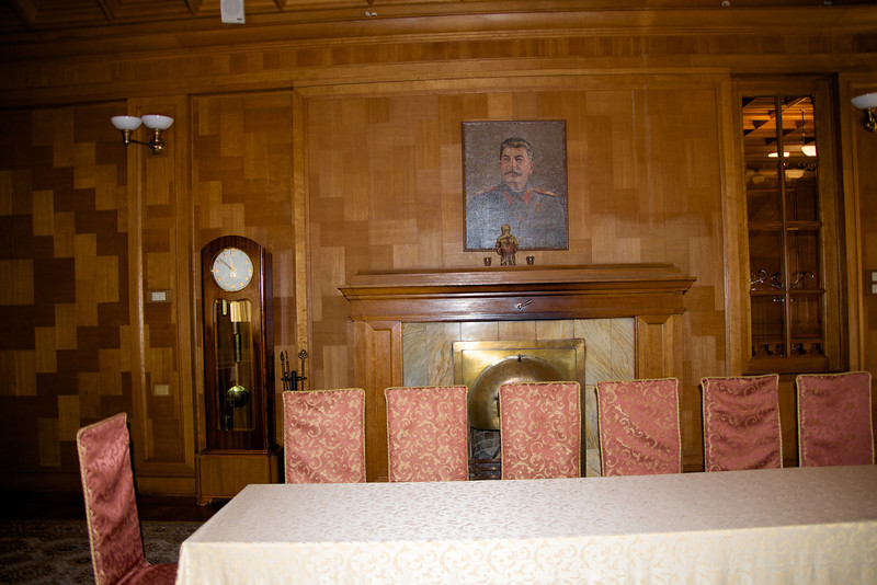 One of Stalin's Favorite Rooms… Example of Close Up Portrait to Increase Appearance of His Stature… All Fireplaces Made So That They Gave Heat But Did Not Give Off Smoke From The Roof (he wanted no indication anyone was at the dacha)