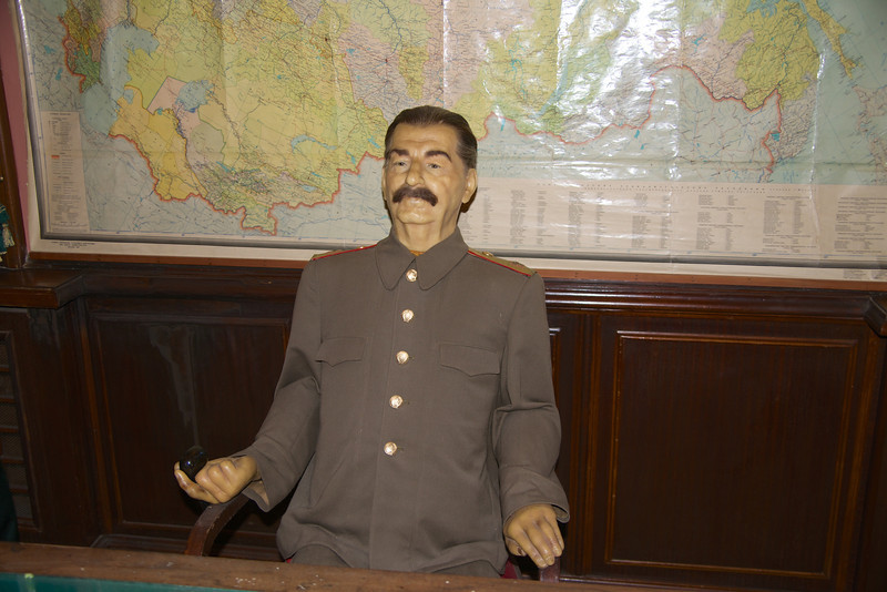 Life Size Likeness of Stalin… Always Carried A Pipe in His Right Hand and Left Hand Was Withered… He Was Very Small Man and Had Solo Close Up Pictures When Possible To Make Himself Appear Larger… If Photographed With Others He Would Sit On Pi