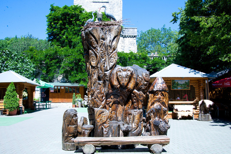 Wood Carving Symbolizes Family… Parents Tell Children They Were Brought by Birds Lie The Ones on Top of The Sculpture