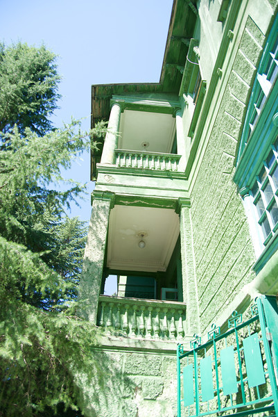 Every Room Had A Balcony… Because Stalin Was So Paranoid The Entire Villa Is Green (including the roof) So That It Could Not Be Seen