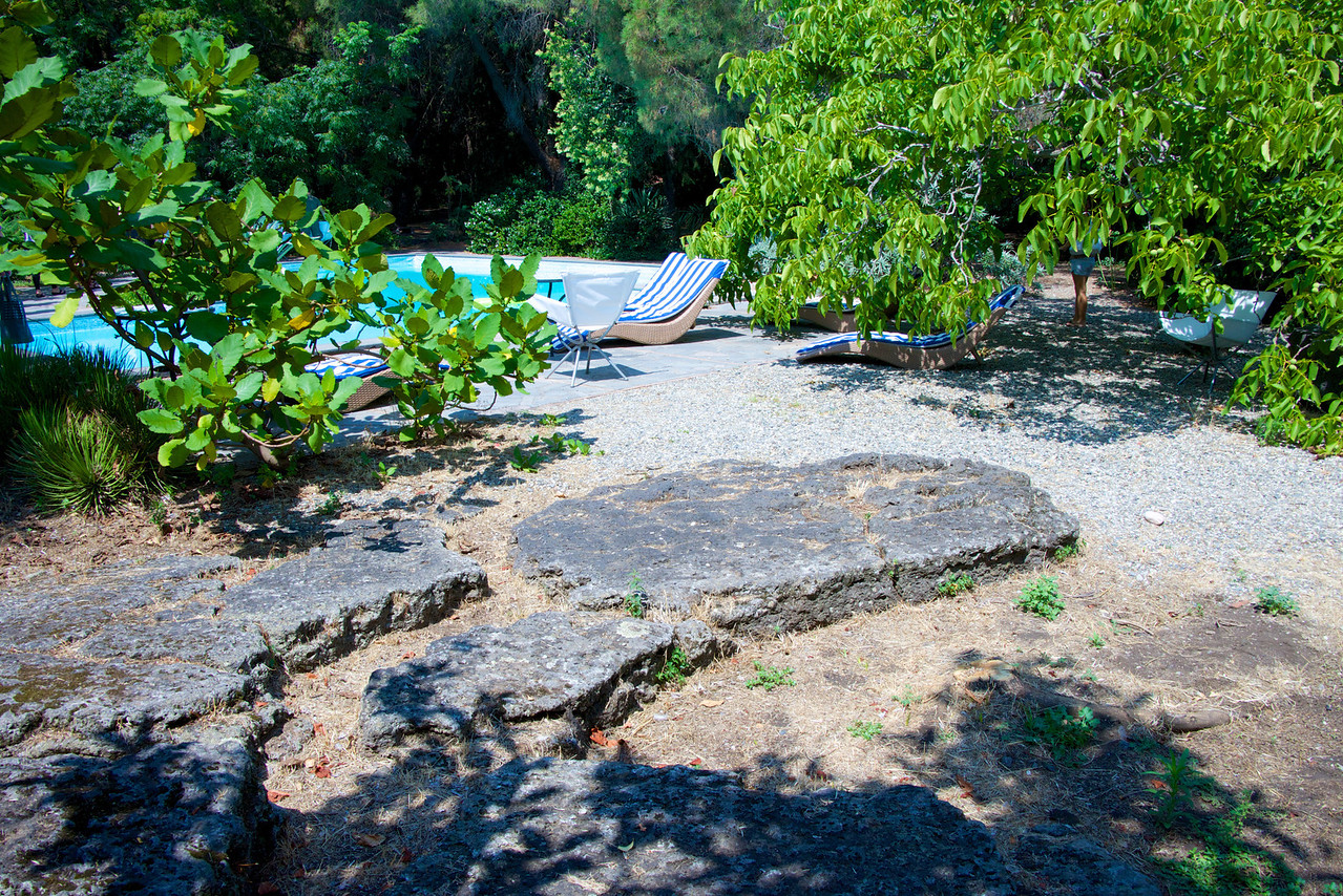 Lava Rock (from 1400s), Swimming Pool at The Bed & Breakfast