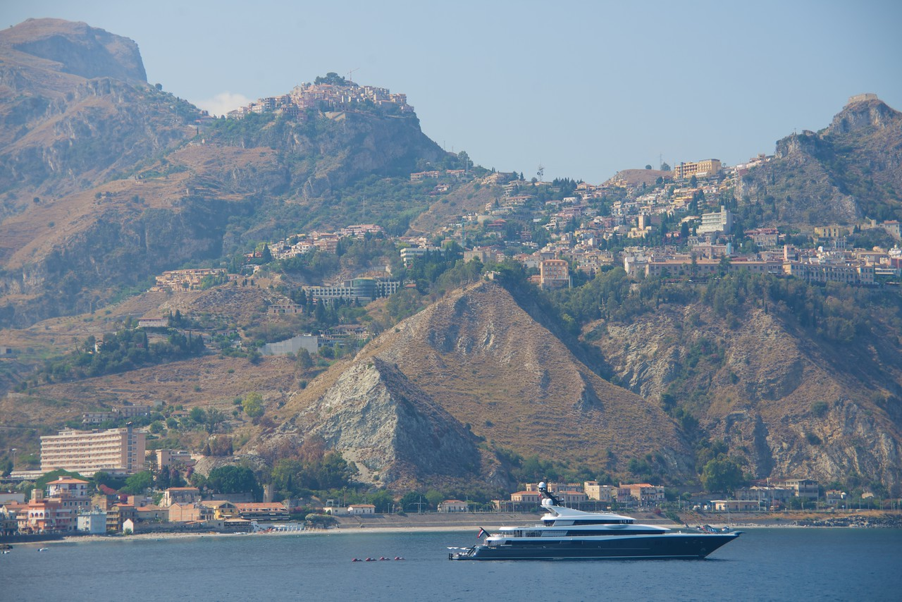 View of Taormina From Deck 8 Aft