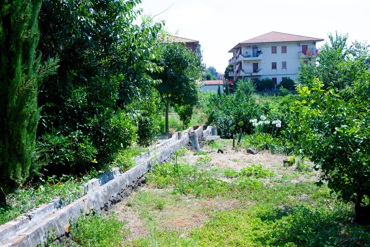 Irrigation Trough Ran Throughout The Garden… Local Apartments Outside the Family Land