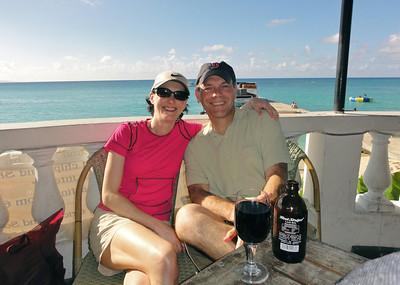Enjoying lunch in Montego Bay, Jamaica