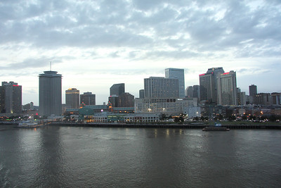 On board the ship as we set sail down the mighty Mississippi.   Bye, NOLA!  See ya in a week!