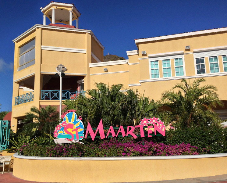 Our first port of call, St. Maarten