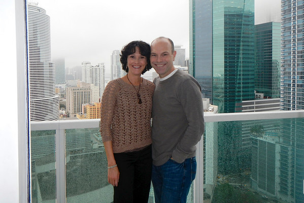 Our one not-so-sunny- day in Miami celebrating our 16th wedding anniversary!