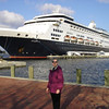 "An ""I was there"" photo op for me in Norfolk with Maasdam serving as a backdrop."