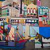 Hyatt Regency Baltimore - Bistro 300<br /> Detail from the Fells Point mural.