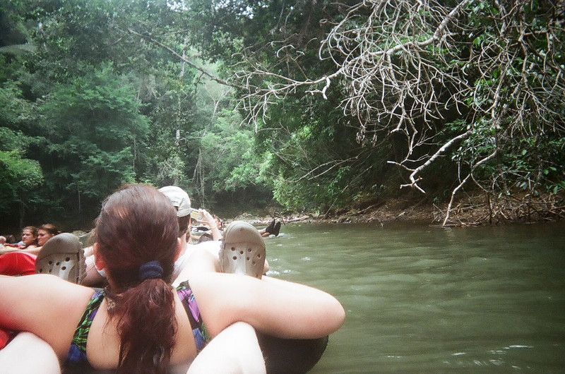 Dave and Cathy, cave tubing in Belize