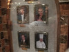 Pictures of the Maitre D' and other dining-related personnel at the entrance to the dining room