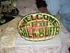 A watermelon sculpture at the midnight buffet