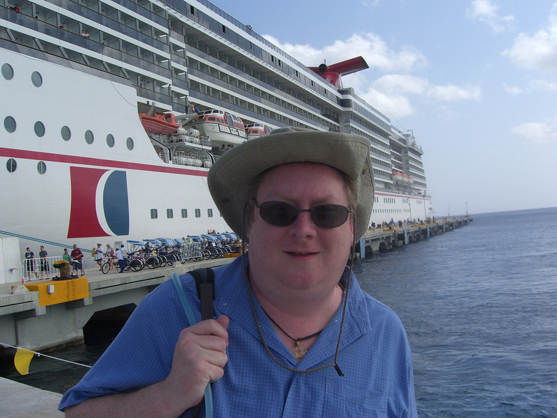 Dave at the port in Cozumel