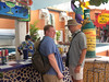 Dave and Walter buying drinks in Cozumel