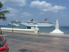 Carnival ships docked at the port in Cozumel