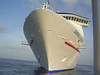 The front of the Carnival Legend, as seen from the tender in Grand Cayman
