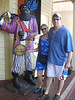 Will and Traci with a Big Black Dick Rum statue in Grand Cayman