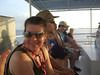 Sheila, Walter, and Will aboard the tender at Grand Cayman