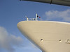 The nose of the Carnival Legend, as seen from the tender in Grand Cayman