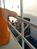 Boarding the tender in Grand Cayman