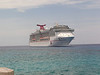 The Carnival Legend as seen from Grand Cayman