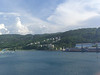 The view from our balcony on the Carnival Legend in Ocho Rios, Jamaica